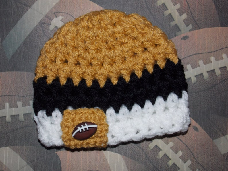 e4c38d82 New Orleans Saints inspired baby hat - sports props- team sports - photo  prop = made to order