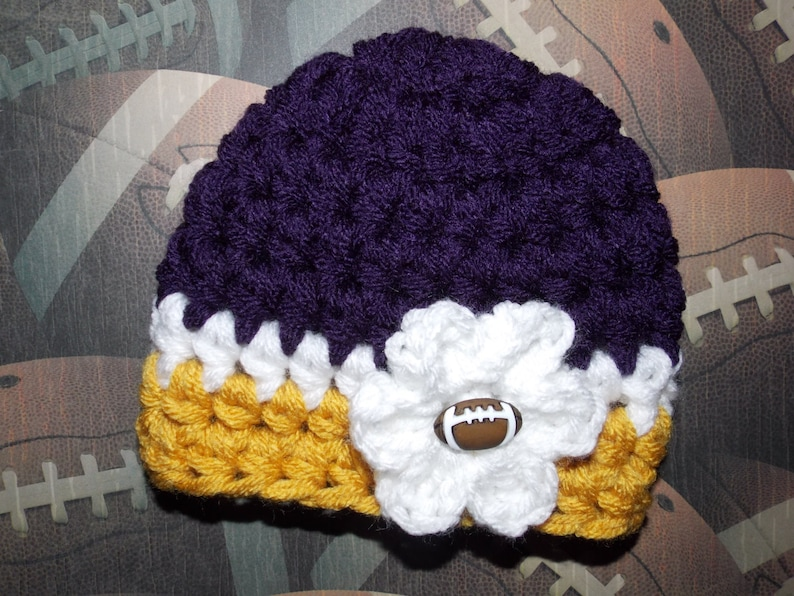 942688fa Minnesota Vikings inspired baby hat - sports props - made to order - team  sports