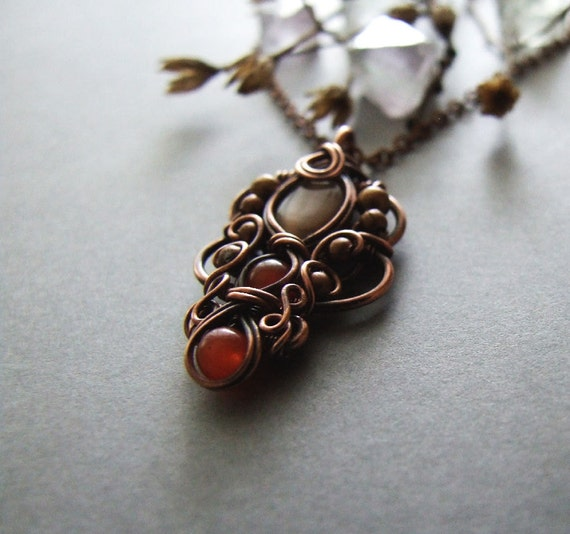 Necklace tutorial wire wrapping pendant tutorial diy bohemian necklace tutorial wire wrapping pendant tutorial diy bohemian necklace jewelry tutorial from kicabijoux on etsy studio mozeypictures Choice Image