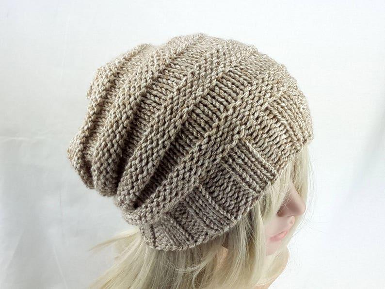 b4195ba6424 Winter hat slouchy beanie oversized beanie in light beige