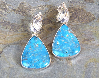 Morenci Turquoise 2-in-1 Convertible Earrings
