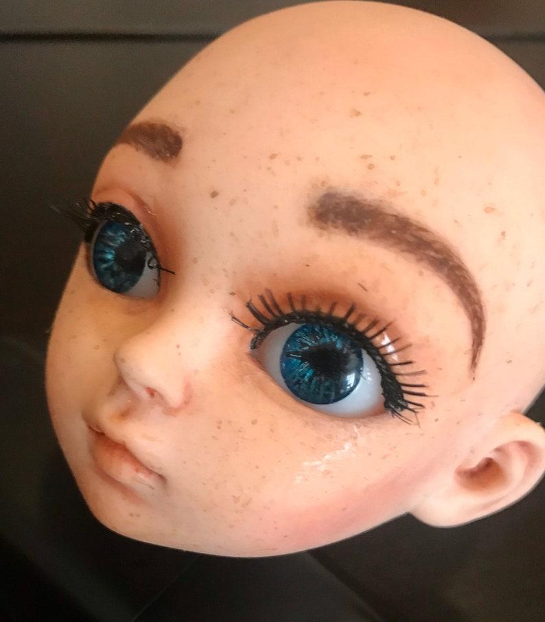 Resin Doll Eyes 18mm eyes Blue eyes realistic handmade image 0