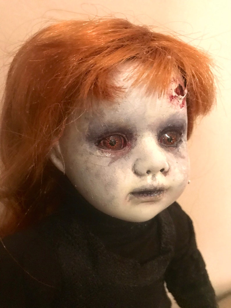 Horror Doll OOAK Doll possessed doll painted doll doll image 0
