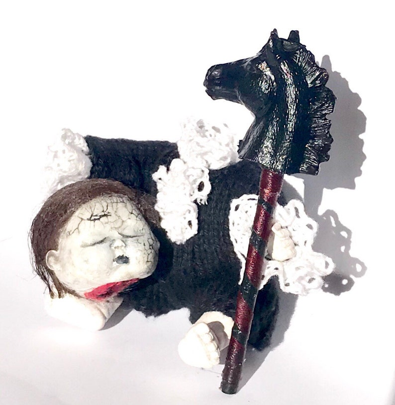 Headless Horseman Doll OOAK Doll headless horseman painted image 0