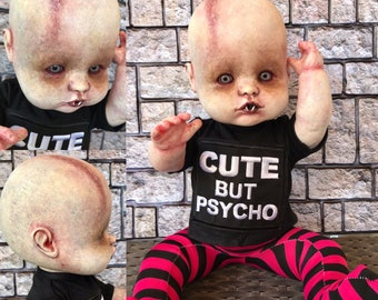OOAK doll, vampire doll, Scary Horror Doll, possessed baby, OOAK painted doll, doll collector, haunted doll, living dead, gothic doll