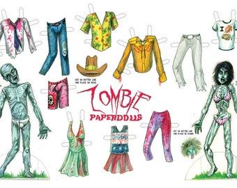 zombie paperdolls