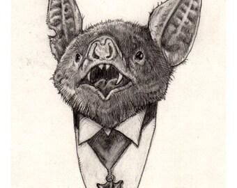 Count Bat 11x17 print