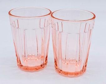 Vintage ~ Depression Glass ~ Fortune 5oz Juice Tumbler ~ Pink