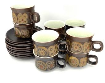denby chorus set of 4x cups and saucers