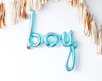 Boy Balloon Garland - Boy Blue Baby Shower Party Decor, Pregnancy Announcement Decoration, Newborn Photo Shoot Prop, Birthday, Gender Reveal