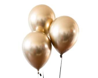 Metallic Gold Chrome Balloons - Rose Gold Birthday Decoration, Wedding Decor, Graduation, Bachelorette Party, Baby shower,  Bridal Shower