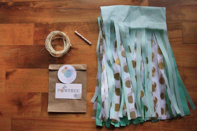 neutrals 5 tissue paper pom poms wedding decoration.htm neutrals  silver and champagne tassel garland beige baby shower  silver and champagne tassel garland