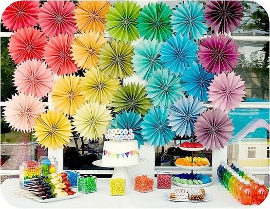 Party decor paper flowers 32 pomwheels pick your etsy image 0 mightylinksfo