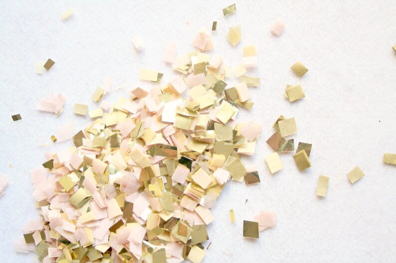 Blush Gold Nude and Champagne Confetti Wedding Table decor image 0