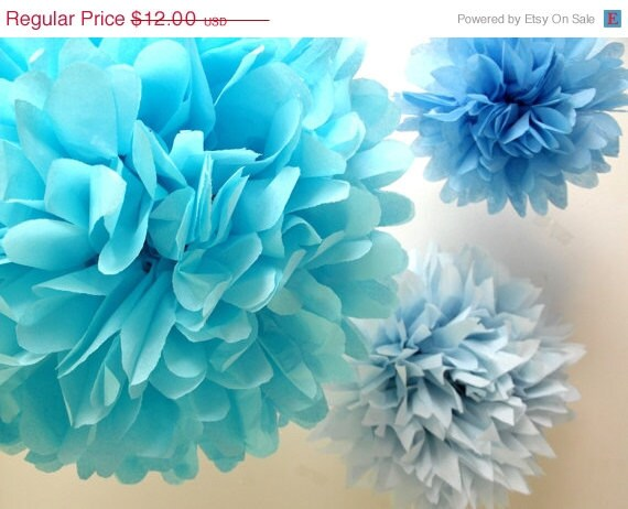 Birthday Party Decorations Paper pompoms 3 Poms // Frozen