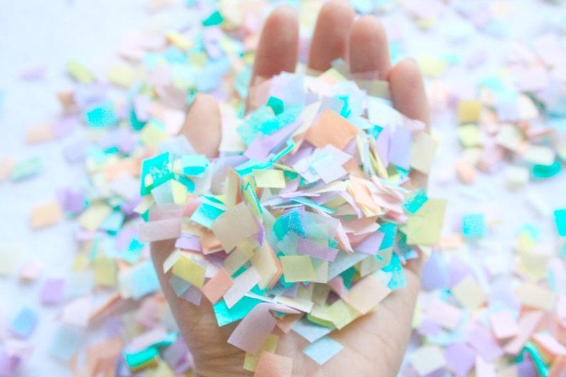 99c4af72d0d58 Pastel rainbow unicorn confetti, confetti toss photo shoot, unicorn rainbow  birthday party decorations, piñata confetti, confetti balloon