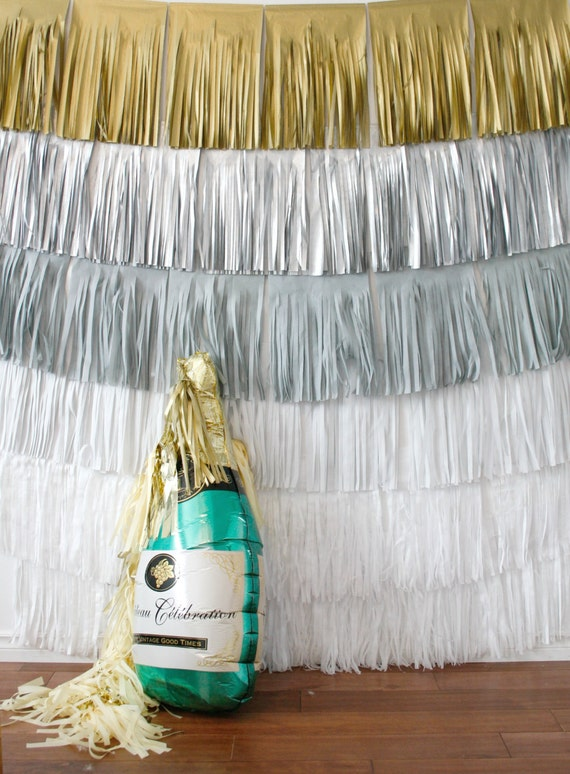 New Years Eve Backdrop Fringe Curtain Winter Onederland Etsy