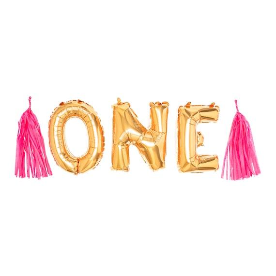 One Gold Balloon Garland 1st Birthday Party Decor First Birthday