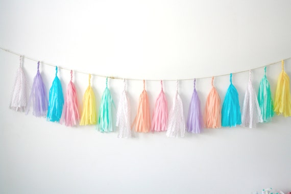Conversation Hearts Tassel Garland Valentines Day Nursery Decor