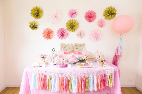 1st Birthday Party Decoration Package Tassel Garland Pomwheel