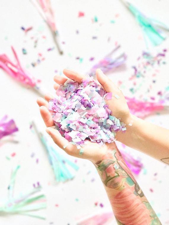 d6c1d9f1cfebc Iridescent Unicorn Confetti- Sparkle Rainbow Pastel Baby Shower ...