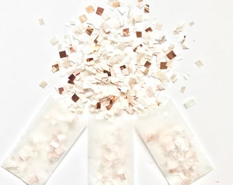 Rose Gold, Cream and Champagne Confetti, Wedding, Anniversary, Bridal Shower Party Decoration, Biodegradable Toss, Baby Shower Decor