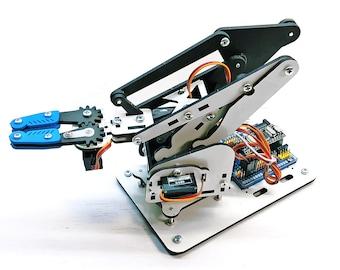ArmUno 2.0 Robotic Arm Kit + Arduino Compatible Nano USB Controller and Windows Software App