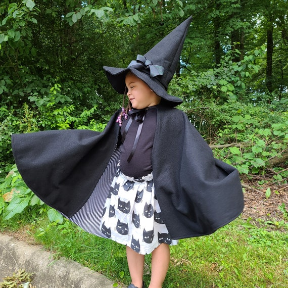 Witch Cape  Hat black cat skirt