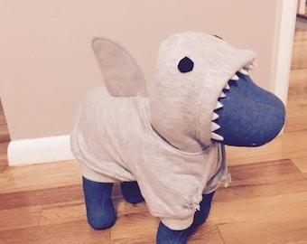 Dog shark hoodies