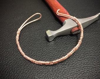 Copper wire weaved cuff (#6)