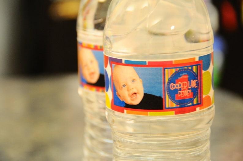 Football Water Bottle Label