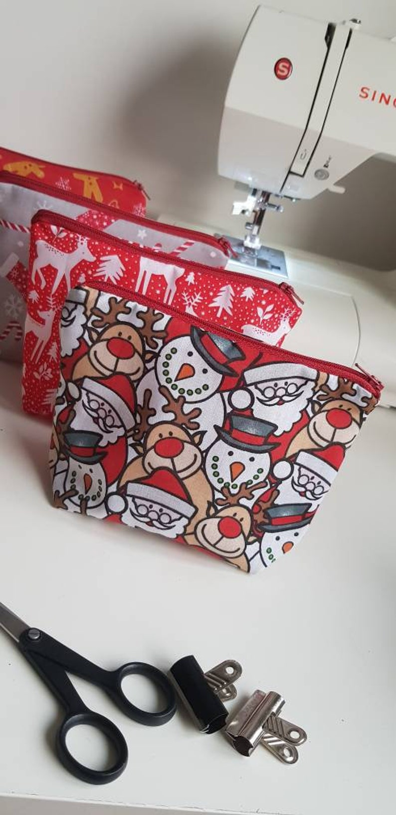 kids gifts stocking stuffer Pack of xmas zip pouches christmas gifts secret santa