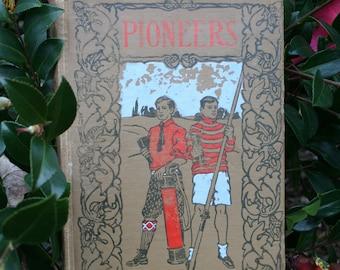 "Hand-bound Blank Journal made from Antique Book ""Pioneers"" Hand-Bound, Antique Book, Handmade, Journal, Notebook, Sketchbook,"