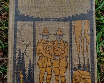 "Handbound Antique Journal ""Boy Troopers Among the Wild Mountaineers"" Blank Book Sketchbook by Harper Leich Asheville Artist"