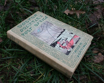 "Hand-bound Blank Journal made from Antique Book ""Doctor Doolittle's Post Office"" Journal, Notebook, sketchbook, Harper Leich, Asheville"