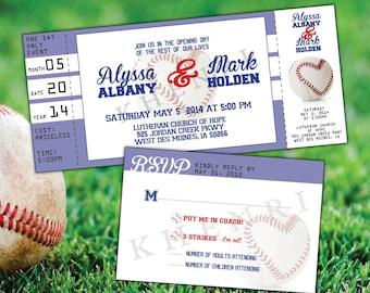 Baseball Ticket Invitation - printable - baseball cards - baseball tickets