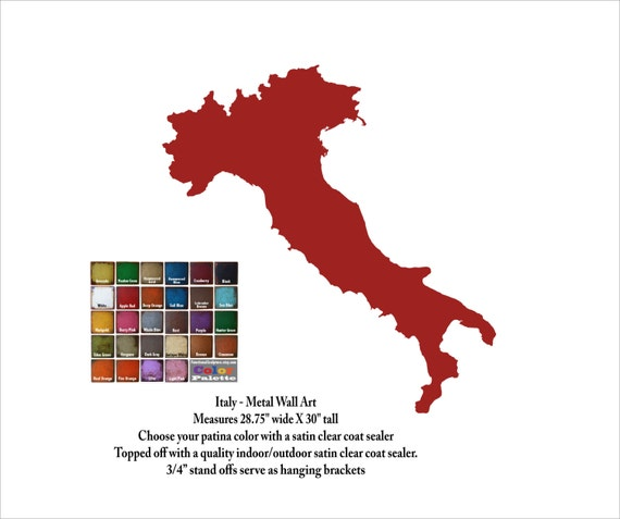 Clear Map Of Italy.Italy Map Metal Wall Art 30 Tall Choose Your Color Country Map Wall Art Italian Art Map Of Italy Art
