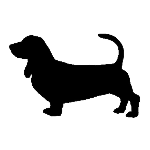 Items similar to Basset hound dog wall art metal ...