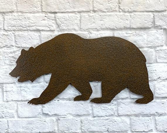Bear Bears Metal Wall Art Home Decor