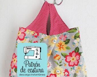 Patrón/molde para bolso de compras - Versión en español (PDF)