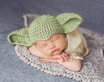 2d792bf9561 IN STOCK Newborn Yoda hat