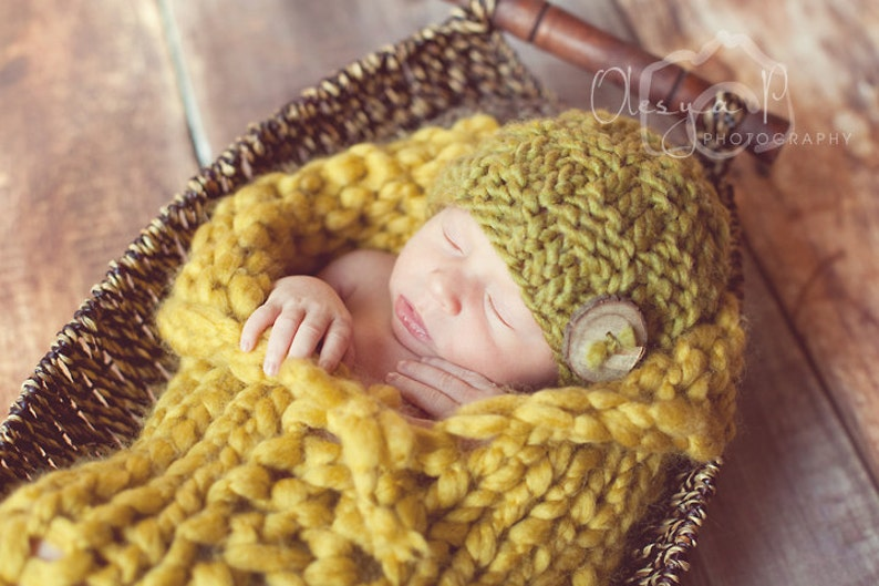 Newborn photography woven layer baby blue 18x12 inches