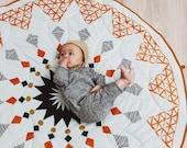 Baby play mat,  baby playmat, boho baby round play mat, tummy time rug, play rug, baby shower gift, boho nursery