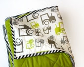 Items similar to Farm baby bedding- FUN TRACTORS- green ...