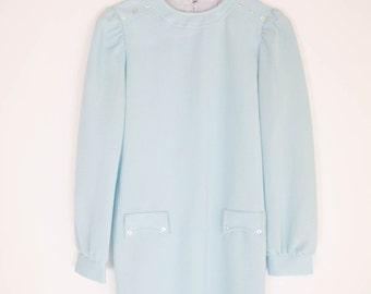 vintage 60s sky blue mod mini dress