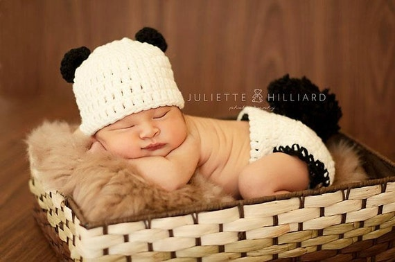 Baby-Kleidung Panda Mütze-Panda Windel Abdeckung Baby | Etsy