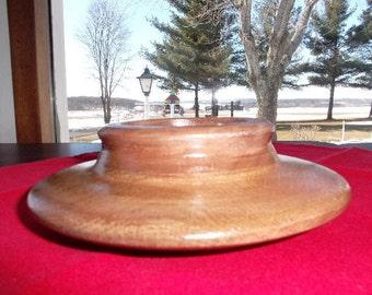 walnut wood 3'' candleholder