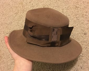 Vintage Ruth Kropveld Original Hat With Bow