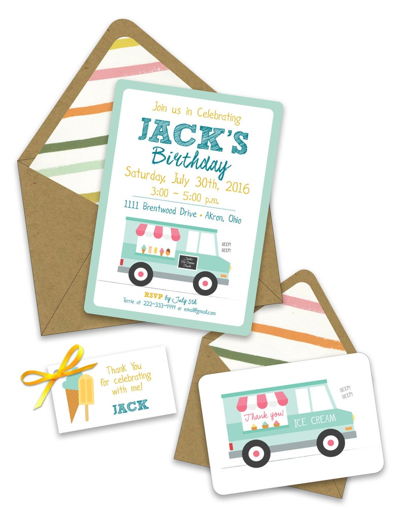 Ice Cream Social Baby Shower Favor Tags