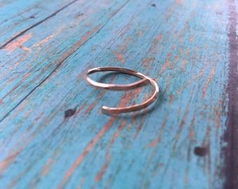 Rose Gold Hammered Ring | Wrap Ring | Rose Gold Wrap Ring | Gold Hammered Ring | Hammered Wrap Ring | Rose Gold | Hand Hammered Ring